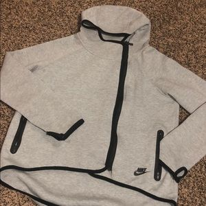 Nike Grey ZIP up sweater